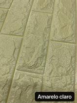 19 Painel Adesivo 3d Alto Relevo Revestimento 70x77cm Creme - Vil