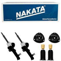 2 Amortecedor Fiesta 2003 a 2014 Dianteiro Nakata e Kit -