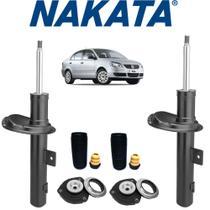 2 Amortecedores + Kits Dianteiro Polo Sedan Nakata 2009 2010 2011 2012 -