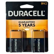 2 Baterias Duracell Pilhas Alcalina 9 Volts Cartela com duas MN1604B2 -