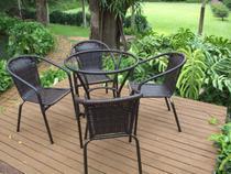 2 Cadeiras e Mesa Turin - Área externa, lazer, jardim, churrasqueira Nova - Trama Original
