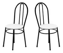 2 Cadeiras Para Cozinha Sem A Mesa de Ferro 134 PB 4 6 Com - Marcheli