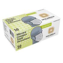 2 caixas Máscara Cirúrgica Tripla Descarpack 50 Un -