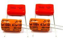 2 Capacitor Bipolar 47x100 e 2 Capacitor Poliester 2m2x250v - Ntv