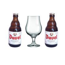 2 cerveja importada Duvel e 1 taça Para Cerveja - Cervejaria Duvel Moortgat