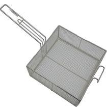 2 Cesto Peneira Fritura Fritadeira Quadrado Em Tela 25x25x10cm - Alemtex