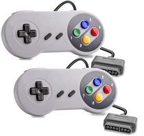 2 Controle Para Super Nintendo Joystick Snes Botão Colorido - Techbrasil