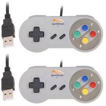 2 Controles Super Nintendo Snes Usb Rapberry Notal Fiscal - Retrogamespi