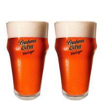 2 Copos de cerveja Brahma Extra Red Lager 400ml - Embalagem Individual - Ambev