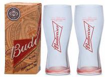 2 Copos De Cerveja Budweiser 400ml - Caixa Individual - Ambev