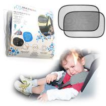 2 Cortina Protetor Solar Janela Bebê Conforto Carro Duplo - Multilaser