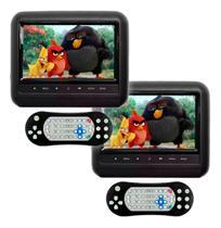 2 Dvd Portatíl Encosto Cabeça Tela 7 Pol Jogo Usb Dvd Preto - First Option