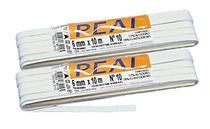 2 Elástico Chato Alvejado Branco 6mm 10m Real 10 3110 -