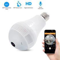 2 Em 1 Câmera Filma Hd E Lampada Led Wifi Internet Segurança - V380