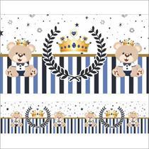 2 Faixas Adesivas Urso Príncipe Coroa Decoração - SAMYDECOR