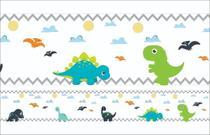 2 Faixas Decorativa Infantil Papel Parede Dinossauro Dino - Samydecor