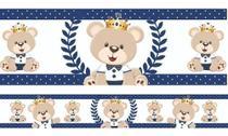 2 Faixas Decorativa Infantil Papel Parede Urso Príncipe Azul - Samydecor