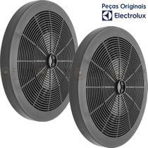 2 Filtros de Carvão Ativado para Depurador Electrolux DE60B DE60X DE80B DE80X -
