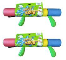 2 Lanças Água Arminha Arma Pistola Brinquedo Piscina Praia - Well Kids