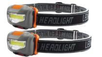 2 Lanterna Cabeça Iluminação 3w Para Leitura Caminhada Bike - sufeng