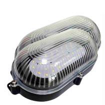 2 Luminárias Arandelas Tartaruga Preta de LEDs SMD - DNI 6201 - Key West