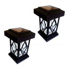 """2 Luminárias Balizadoras Solares Tipo """"Lampião"""" - DNI 6118 - Key west"""