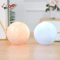 2 Mini Luminária Lua Cheia 3d Abajur Led Relevo 10cm - Mr.cc - Não Informada