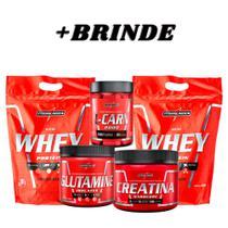 2 Nutry Whey+Creatina+Glutamina+L-Carn+BRINDE - Integralmedica