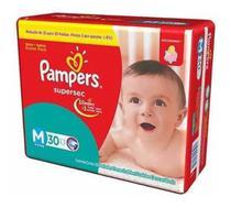 2 Pacote Fralda Descartável Pampers Supersec Revenda Tamanho M Com 30 Unid. -