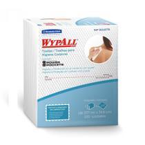 2 Pacotes Pano Wypall Higiene Corporal X60 100un Banho Leito - Kimberly Clark