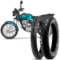 2 Pneu Moto CG 125 Titan Levorin by Michelin Aro 18 80/100-18 47P M/C 90/90-18 57P M/C Dingo Evo -