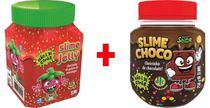 2 Potes Slime cheiro Geleia de Morango + Chocolate Avela DTC - Clio Pets