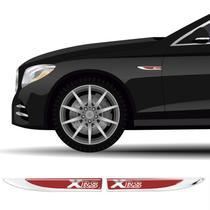 2 Protetores Paralama Corolla Xrs Vermelho Aplique Resinado - Sportinox