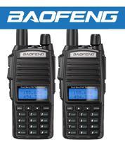 2 Rádios HT Baofeng Uv82 Portátil Profissional 10w Com Capa De Couro -