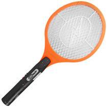 2 Raquete Elétrica Recarregável Mosca Pernilongo Mosquito Amarelo - Kenko