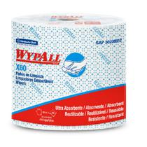 2 Rolos  Azul c/ 416 Panos Descartáveis Wipers WypAll X60 - Kimberly Clark