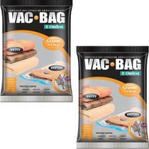 2 Sacos À Vácuo Vac Bag Ordene Grande 55x90 Protetor Roupas -
