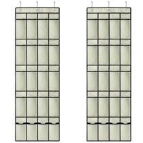 2 Sapateira 10 Pares Porta ou Parede OR61300 Organizador 20 Divisórias Sapatos Calçados Ordene - Ordene S/A
