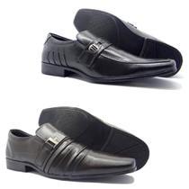 e4266dc91f 2 Sapatos Sociais Masculino Aberdeen Preto E Cafe - Bertelli