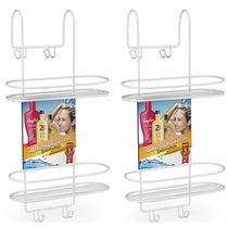 2 Suporte Duplo Emborrachado Box Banheiro 2021 Shampoo Condicionador Sabonete Toalha Branco Arthi -