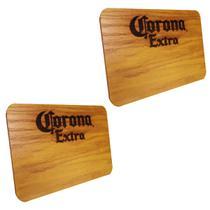 2 Tábuas de Madeira Corona Extra 24,5 x 17,5 cm Personalizada - Ambev