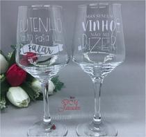 2 Taças Brunelo para vinho personalizada com Jateamento - Nadir Figueiredo