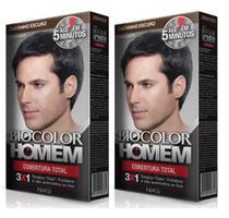 2 Tonalizante Biocolor Homem Castanho Escuro- Cabelo E Barba -