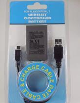 2 Und Do Kit Bateria P/ Controle Ps3 1800mah + Cabo Usb - Jsx