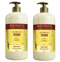 2 Unidades Bio Extratus Creme De Silicone Com Tutano 1 Litro -