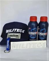 2 unidades Militec-1 Original 200ml + Adesivo, Etiqueta, Chaveiro e Boné Militec -