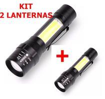 2 X Mini Lanterna Usb Recarregavel Super Zoom De Bolso - Okabox