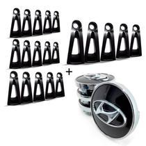 20 Apliques de roda liga leve Hyundai I30 2009 a 2012 Preto +JG Calota Centro Roda Hyundai I30 Pre - Gfm - Calotinha