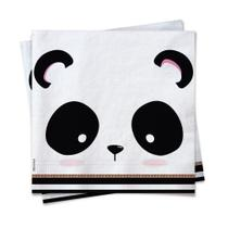 20 Guardanapos Papel Mesa Panda Close 25X25Cm - Cromus