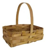 20 Mini Cesta Lembrancinha Bambu Pascoa Aniversário Ref.1644 16x10x05 - Agalus